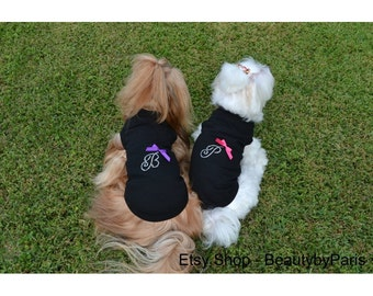 Rhinestone Initial Dog Shirt - You choose size, Xsmall, Small, Medium or Large. Read full description for details!