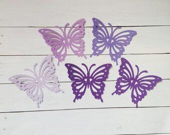 Purple paper butterfly die cuts  Purple butterfly cutouts big butterfly die cuts Paper butterflies Butterfly confetti Purple