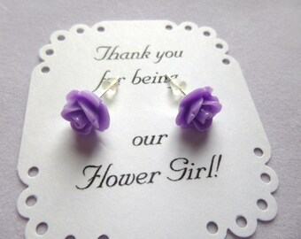 Flower Girl Earrings, Girls Earrings, Bridesmaid Earrings, Maid of Honor Earrings, Wedding Earrings, Flower Girl Gift, Flower Girl Jewelry