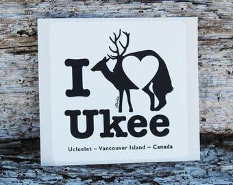 I heart Ukee Sticker