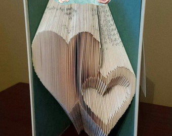 Half Price Sale - Full And Inverted Hearts - Book Folding Pattern