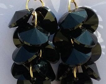 Gold Filled Swavorski Cluster drop Earring