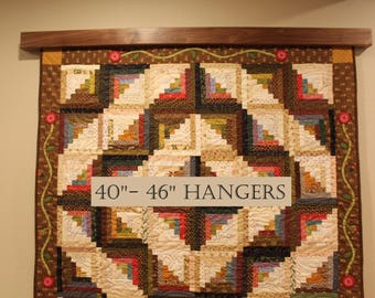"""40"""" to 46"""" inch Knob-less modern quilt wall hanger"""