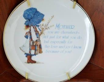"Hollie Hobbie ""Mother"" Decorative Porcelain Wall Plate"