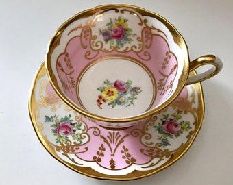 Antique Salisbury China Tea Cup & Saucer