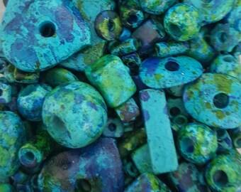 Mykonos Ceramic Greek Aegean Sample Bead Mix  - 1 oz (29.57 grams)