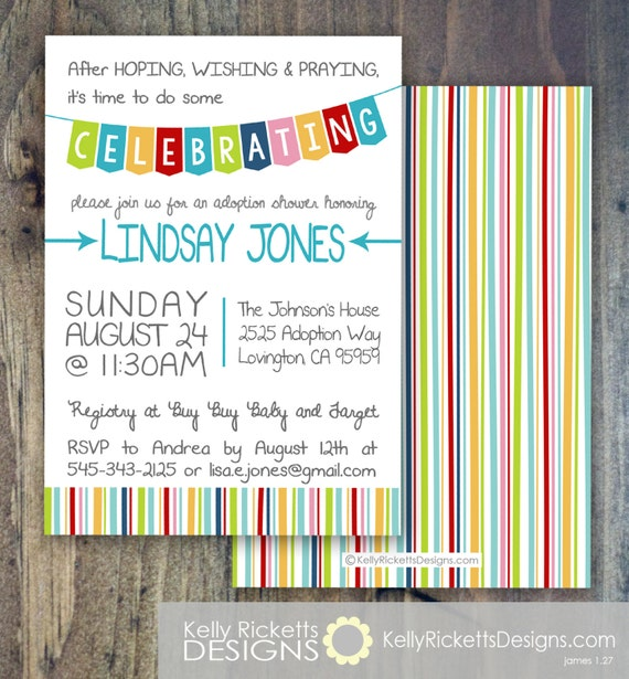Celebrate Adoption Invitation Shower Party Or Finalization