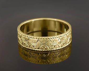 Wedding ring, Wedding band, His wedding band, Women's wedding ring, Her wedding ring, Hand engraved jewelry, Hand engraved wedding ring