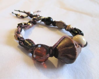 On My Favorite Path, Braided and Beaded Bracelet
