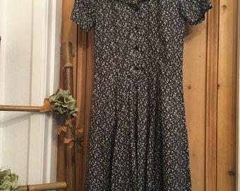 Vintage Laura Ashley Floral Dress Size 10