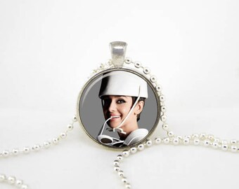 hepburn necklace, audrey jewelry,hepburn pendant, audrey necklace,audrey hepburn quote,paris necklace, audrey pendant, audrey hepburn party