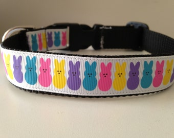 1 Inch Colorful Bunny Rabbits Easter Holiday Dog Collar