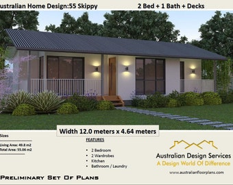 2 Bedroom Small Home Design | House Plan SALE | 55 M2 Or 592 Sq Foot