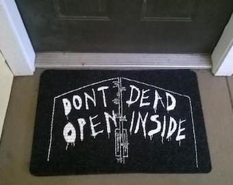 Don't Open Dead Inside Welcome Mat