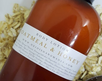 Oatmeal and Honey Lotion - Oatmeal Body Lotion - Oatmeal Honey Hand and Body Lotion