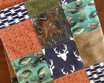 Woodland Baby Quilt  Deer Baby Quilt Arrow Baby Quilt Camo Baby Quilt Deer Baby Blanket Hunting Baby Quilt Baby Boy Quilt Patchwork Quilt