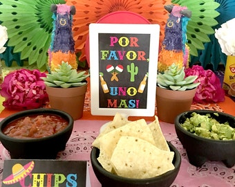Cinco de Mayo Party Fiesta Party Welcome Sign Decoration INSTANT DOWNLOAD