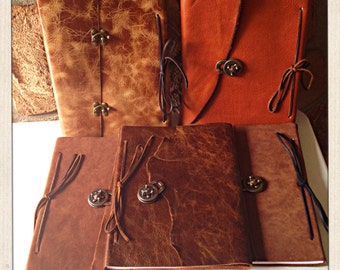 Refillable Leather Journal with Hardware (Standard or A4 Size)