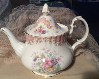 "Royal Albert ""Serenity"" Pattern Teapot"