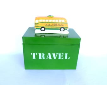 METAL BOX for TRAVEL Dreams with Ceramic Bus Handle