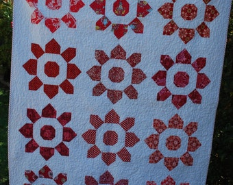Red and White Lap Quilt