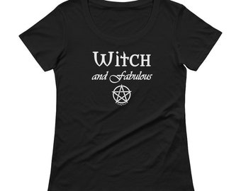 Witch and Fabulous Sheer Scoopneck Cheeky Witch T-Shirt