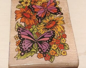 Retired Rubber Stamps - Butterflys and Flowers
