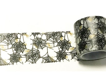 Spider / Spiderweb / Cobwebs Washi Tape (40mm X 5M)