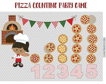 PIZZA COUNTING Party File Folder Game Printable - Downloadable PDF
