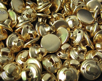 12pcs   Gold - 11.4mm - CSSB-FA114 - Copper Shank Sewing Button