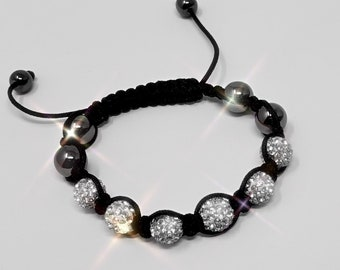 Beaded Bracelet with Crystal Balls