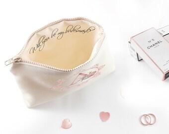Bridesmaid proposal Asking bridesmaid Purse gift Will you be my bridesmaid gift Bridesmaid proposal gifts Custom bridesmaids gift ideas