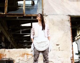 Silk Trouser, Straight Pant, Shany Effect, Avant Garde