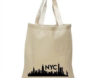 High Quality Heavy Canvas Tote Bag - New York City skyline NYC