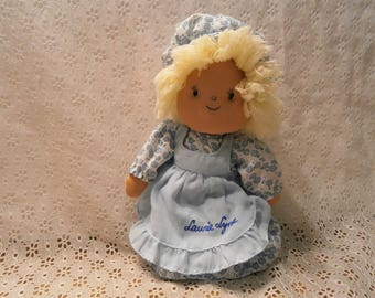 Kamar Laura Lynn 10 inch Doll made in Taiwan with Blue and White dress