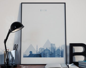 Giza Art Giza Print Giza Poster Giza Wall Art City of Giza Giza Watercolor Giza Multicolor Giza Wall Decor Giza Photo Giza Home Decor Egypt
