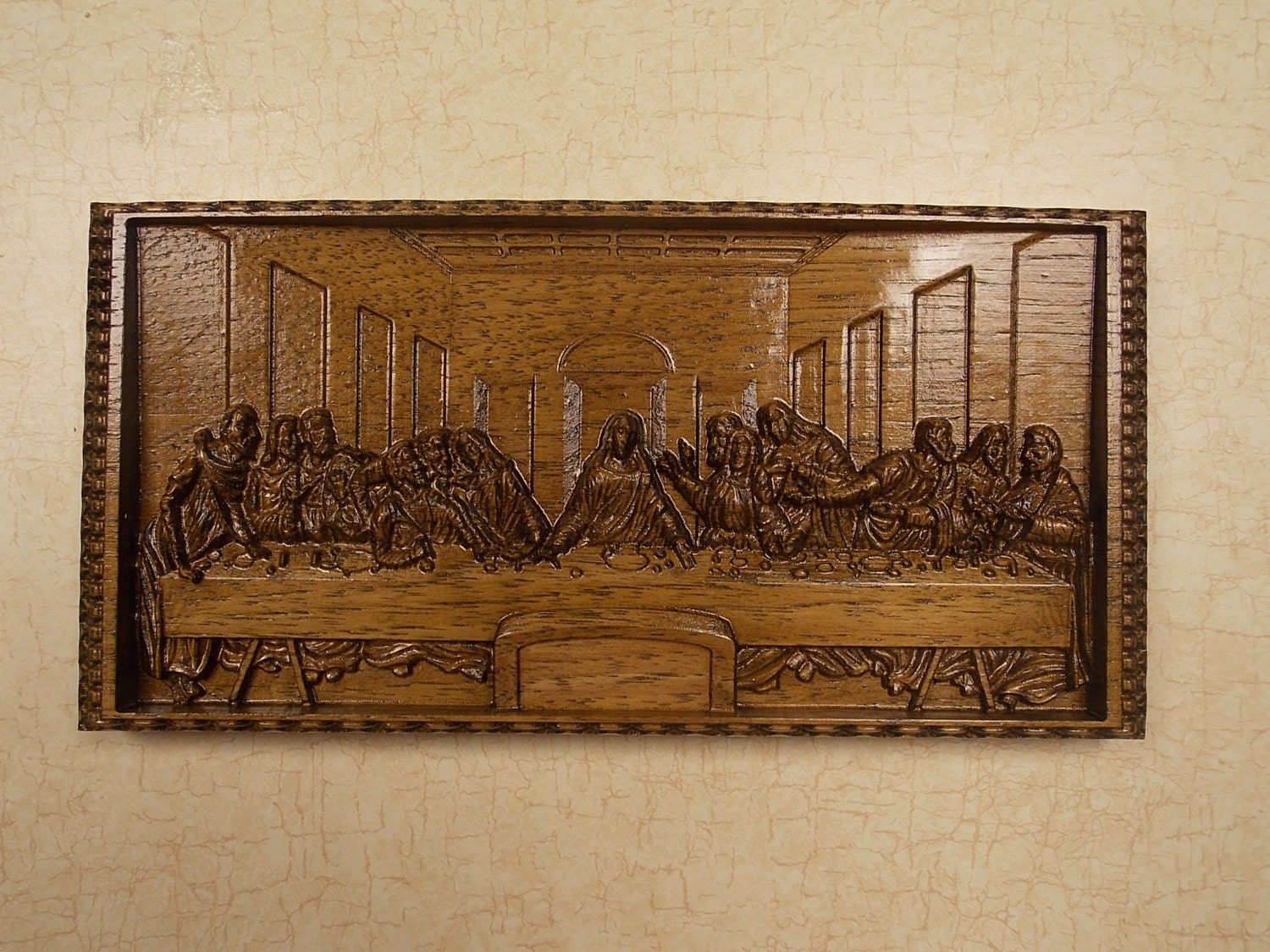 Leonardo da Vinci The Last Supper Wall Decor CNC 3D Wooden