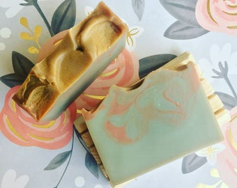Sea Salt + Orchid Soap - Floral Soap - Designer Soap - Handmade Soap - Homemade Soap - Cold Process Soap - Vegan Soap - Soaperie
