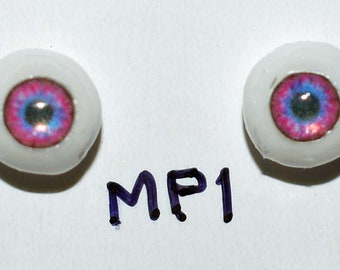 Hand Made Glass Like Eyes 5mm - Pink Fairy MP1- for OOAK Art -Dolls