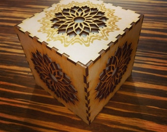 Square mandala light box