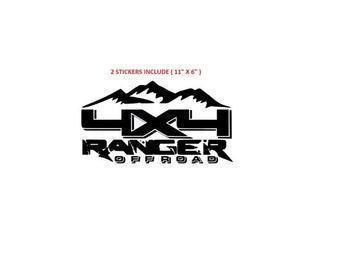 Ford Ranger Edge fx2 fx4 splash sticker decal emblem  (#351)