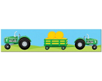 Tractor Theme Party Banner Streamer; John Deere Inspired Birthday Party; Baby Shower Decorations; Farmer Theme Decorations; Fun to be One