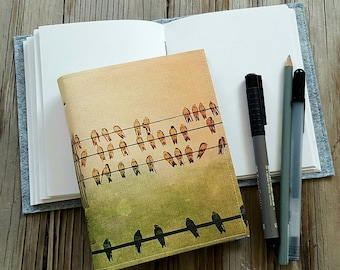 birds on a wire journal - moms, dads, grads gift - tremundo