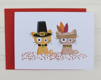 Thanksgiving Cat Card, Custom Thanksgiving, Cat Thanksgiving Card, From the Cats, Cute Cat Card, Cat Owner, Cat Mom, Cat Dad, For the Cats