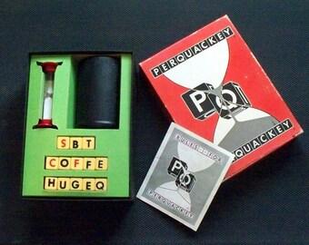 Vintage 1956 Perquackey Word Game Bakelite Dice