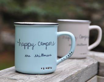 Happy camper mugs camping gift happy camper gift camping mug camping wedding gift bridesmaid gift camper sign camp