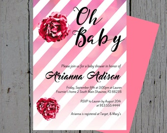 Baby Shower Invitation - Oh Baby! Customized