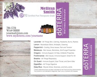 Business calling cards etsy doterra business cards doterra cards essential oil business cards personalized business cards reheart Choice Image