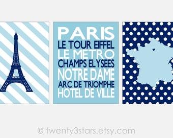 Paris Art Prints, Paris Subway Art, Eiffel Tower Art, France Map Art, Paris Theme Nursery Art, Girls Nursery Art Canvases, Paris Posters
