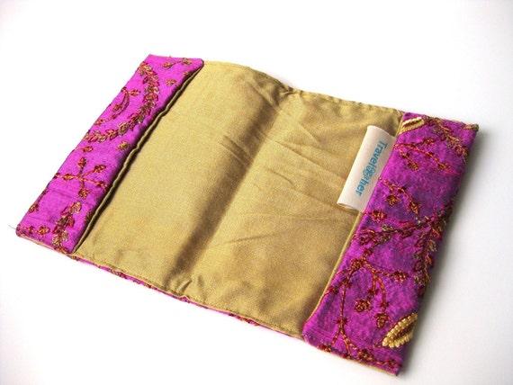 Seide Pass Abdeckung Pink gold